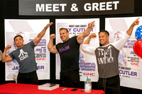 Jay Cutler, four times MR. Olympia, visits fans at the Fort Brag